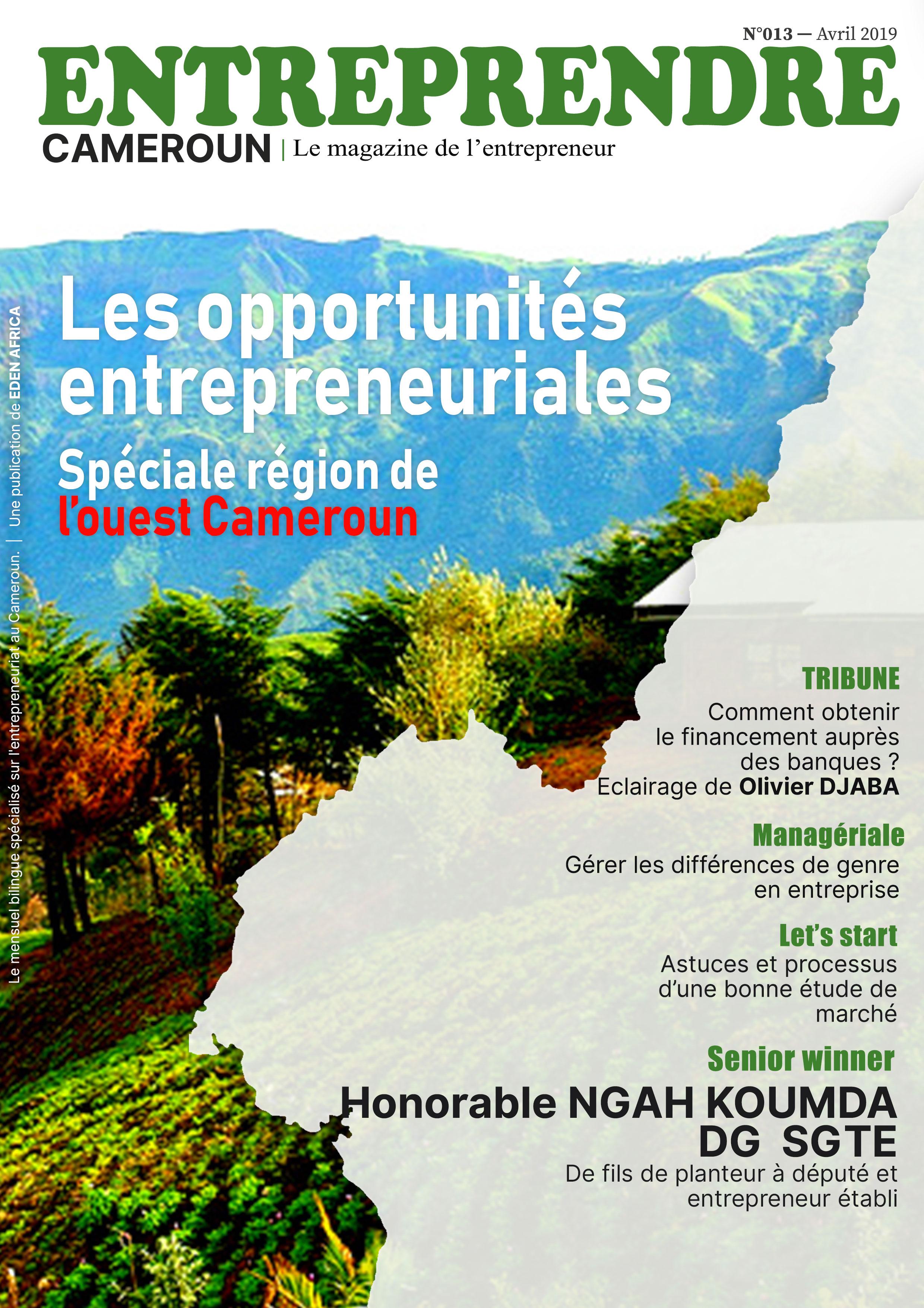 Les opportunitées entrepreneuriales Spéciale région de l'ouest Cameroun