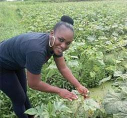 image Prudence Dithimy une jeune agri preneur à la tête d'une grande entreprise agricole